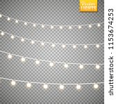 christmas lights isolated on a ...   Shutterstock .eps vector #1153674253