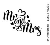 mr and mrs  vector typography.... | Shutterstock .eps vector #1153675219