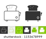 bread toaster black linear and... | Shutterstock .eps vector #1153678999
