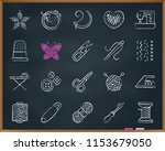 needlework chalk icons set.... | Shutterstock .eps vector #1153679050