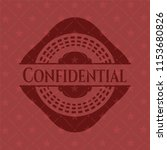 confidential red emblem. retro | Shutterstock .eps vector #1153680826
