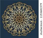 mandala design. vintage... | Shutterstock .eps vector #1153681579