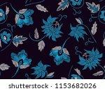 big flowers pattern floral... | Shutterstock .eps vector #1153682026