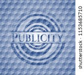 publicity blue badge with... | Shutterstock .eps vector #1153685710
