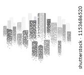 digital cityscape outline with... | Shutterstock .eps vector #1153686520