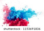 mix of red and blue ink... | Shutterstock . vector #1153691836