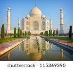 taj mahal   a famous historical ... | Shutterstock . vector #115369390