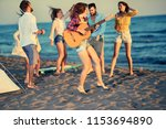 summer  holidays  vacation ... | Shutterstock . vector #1153694890