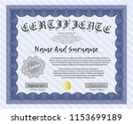 blue sample certificate or... | Shutterstock .eps vector #1153699189