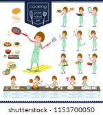 a set of women about cooking... | Shutterstock .eps vector #1153700050