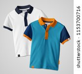 polo t shirt mock up design | Shutterstock . vector #1153700716