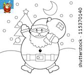 the coloring book with preview  ... | Shutterstock . vector #115370140