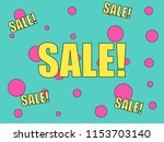 sale banner for your store or... | Shutterstock .eps vector #1153703140