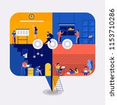 illustrations flat design... | Shutterstock .eps vector #1153710286
