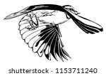 monochrome vector graphic of... | Shutterstock .eps vector #1153711240