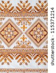 embroidered good by cross... | Shutterstock . vector #115371214