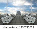 empty airport departure lounge... | Shutterstock . vector #1153719859