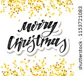 christmas vector phrase... | Shutterstock .eps vector #1153721083