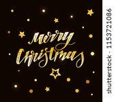 christmas vector phrase... | Shutterstock .eps vector #1153721086