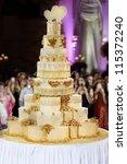 the biggest wedding cake ever | Shutterstock . vector #115372240
