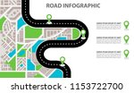 vector infographic with a... | Shutterstock .eps vector #1153722700