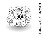 cartoon vegetable    outline... | Shutterstock .eps vector #1153724830
