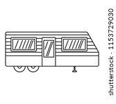 trailer house icon. outline... | Shutterstock . vector #1153729030