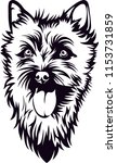 cairn terrier dog breed love... | Shutterstock .eps vector #1153731859