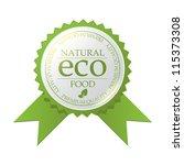 vector eco badge | Shutterstock .eps vector #115373308
