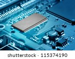 close up of electronic circuit... | Shutterstock . vector #115374190