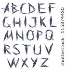 letters of the alphabet painted ... | Shutterstock . vector #115374430