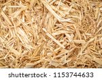 close up of dry raw straw bale...   Shutterstock . vector #1153744633