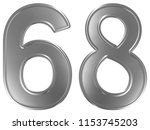 numeral 68  sixty eight ... | Shutterstock . vector #1153745203