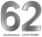 numeral 62  sixty two  isolated ... | Shutterstock . vector #1153745383