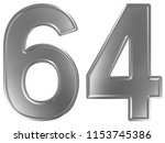 numeral 64  sixty four ... | Shutterstock . vector #1153745386