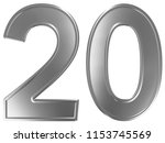 numeral 20  twenty  isolated on ... | Shutterstock . vector #1153745569
