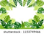 frame of tropical leaves.... | Shutterstock .eps vector #1153749466