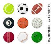 set of balls for different... | Shutterstock .eps vector #1153755469