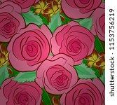vector seamless floral pattern...   Shutterstock .eps vector #1153756219