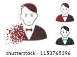 vector dealer icon in fractured ... | Shutterstock .eps vector #1153765396