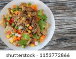 insects food.fried crickets... | Shutterstock . vector #1153772866