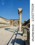 pompei  italy   august 1  2018  ... | Shutterstock . vector #1153775539