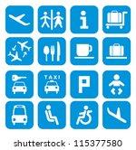 airport icons   pictogram set