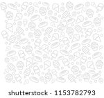 white background with food... | Shutterstock .eps vector #1153782793