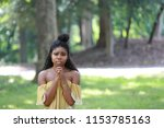 charming lonely black woman... | Shutterstock . vector #1153785163