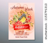 autumn fair week poster with... | Shutterstock .eps vector #1153791313