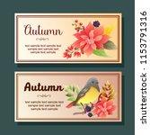autumn poinsettia mockingbird... | Shutterstock .eps vector #1153791316