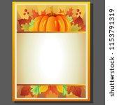 pumpkin autumn poster | Shutterstock .eps vector #1153791319