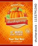 thanksgiving music festival... | Shutterstock .eps vector #1153791340