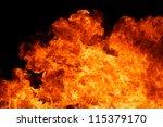 blaze fire flame texture... | Shutterstock . vector #115379170